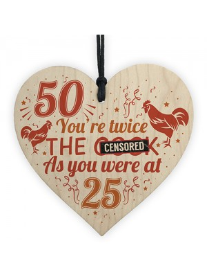 Funny Rude 50th Birthday Gifts For Men Women Friendship Gifts
