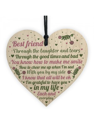 Friendship Sign Best Friend Plaques Gifts Shabby Chic Heart