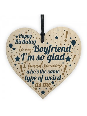 Funny Boyfriend And Girlfriend Gifts Birthday Card For Him