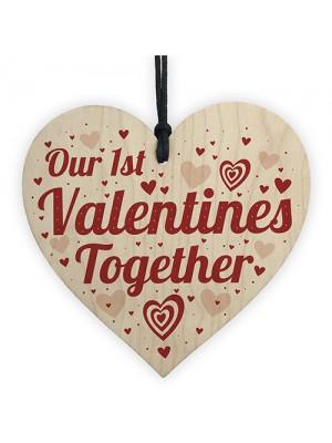 First Valentines Gift For Boyfriend Girlfriend Wooden Heart