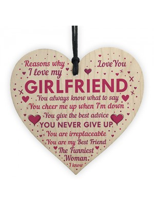 Perfect Romantic Valentines Gift For Your Girlfriend Wood Heart