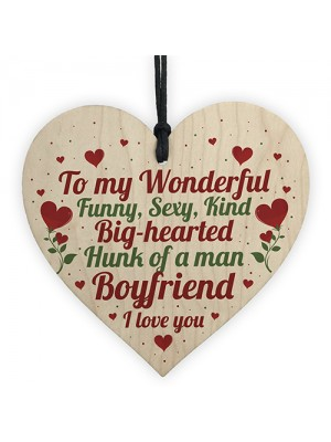 Valentines Anniversary Gift For Boyfriend Gift For Him Wood Sign
