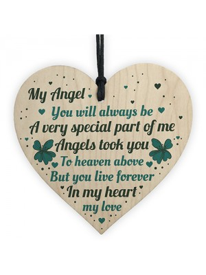 Wood Memorial Gift Remembrance Plaque For Mum Dad Nan Grandad