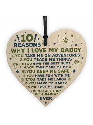 Daddy Gifts From Son Daddy Daughter Gifts Wooden Heart Love You