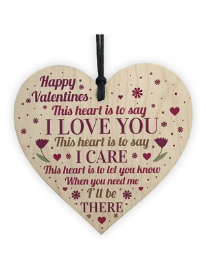 Valentines Day Gift For Him Her Wooden Heart Gift For Boyfriend