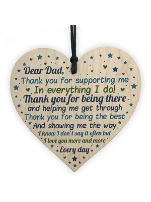 Daddy To Be Gift Wooden Heart Fathers Day Gift For Him Daddy