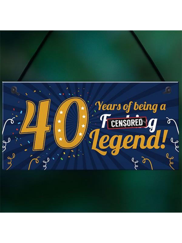 Funny 40th Birthday Present For Men Women 50th Birthday Card