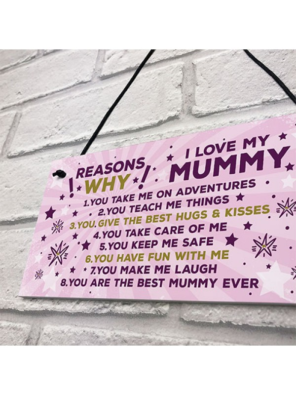 Mummy Birthday Gift Mummy Birthday Card Mothers Day Gift Plaque