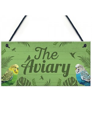 The Aviary Bird Sign Bird Accessories For Cage Garden Plaques