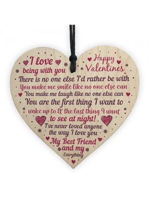 Handmade Wood Heart Valentines Gift For Boyfriend Girlfriend