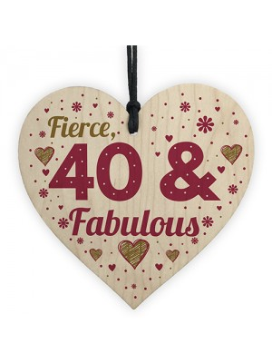 40 And Fabulous Gift 40 Birthday Decorations 40th Birthday Gift