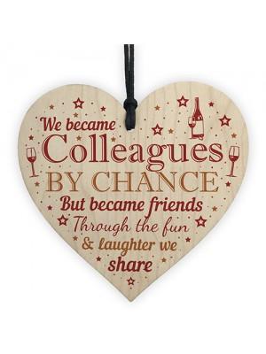 Handmade Wooden Heart Gift For Work Colleague Friend Leaving Job