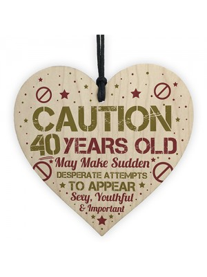 Funny 40th Birthday Card 40 Birthday Decorations Funny 40th Gift