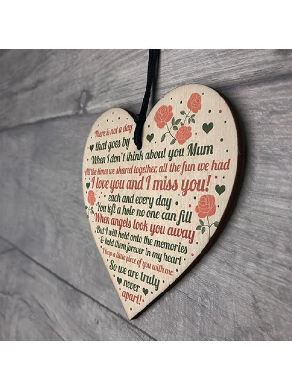 Mum Memorial Gifts Mum Memorial Plaques Heart Memorial Birthday