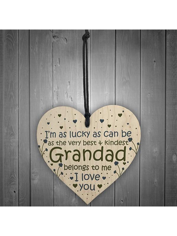 Grandad Gifts Birthday Card Heart Grandchild