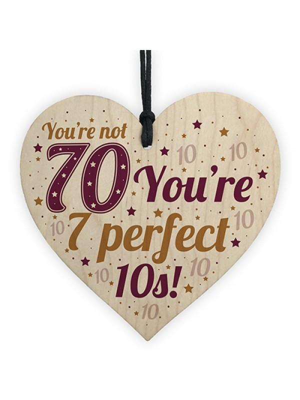 Card 70th Birthday Gift For Women Men