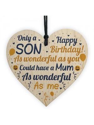 FUNNY Birthday Gift For Son Heart Son Birthday Card Keepsake