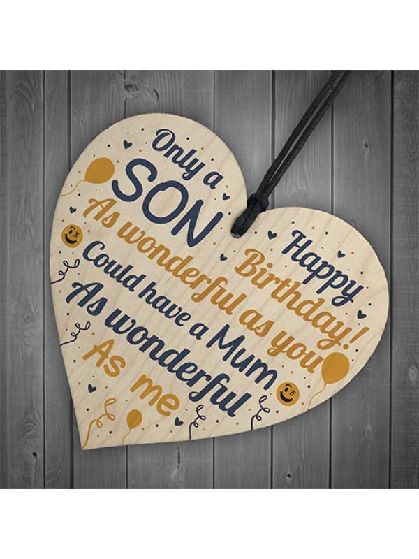 FUNNY Birthday Gift For Son Heart Son Birthday Card Keepsake