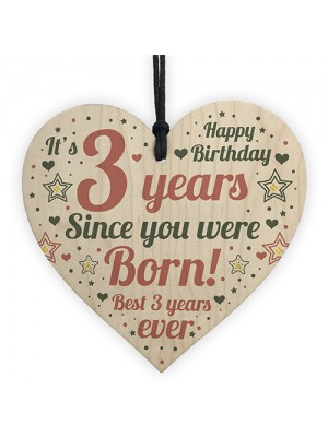 3rd Birthday Girl Boy Three Today 3rd Birthday Decoration Plaque