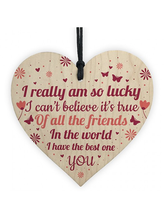 Best Friend Gifts For Women Wooden Heart Best Friend Card Thanks