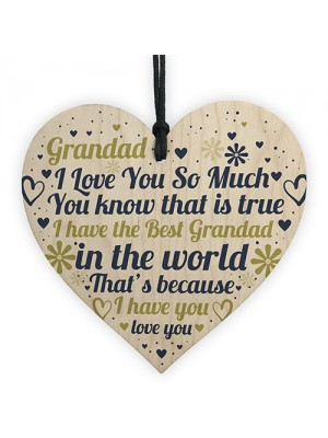 Grandad Gifts Fathers Day Gift For Him Heart Grandad Birthday