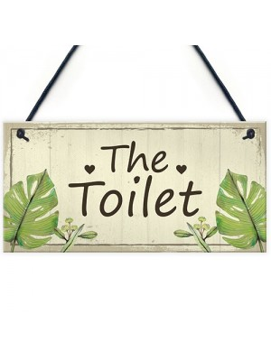 Shabby Chic Toilet Sign Door Plaque Bathroom Sign Home Decor