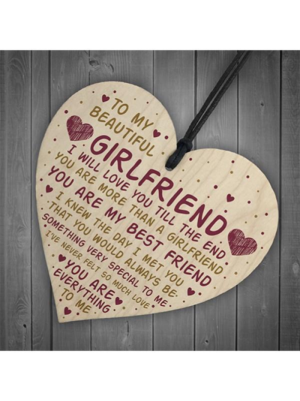 Girlfriend Gift Girlfriend Birthday Card Gift Valentines Gift