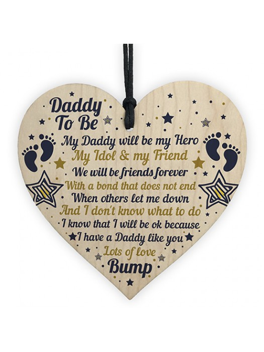 Best Daddy Gifts Heart Daddy To Be Birthday Cards Baby Shower