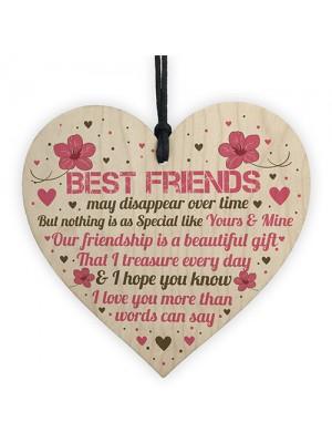 BEST FRIEND GIFTS Wooden Heart Sign Best Friend Birthday Card