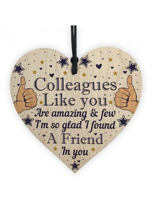 Colleague Thank You Gifts Wooden Heart Friendship Gift Sign Work