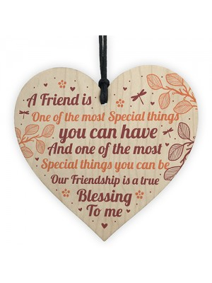 THANK YOU FRIENDSHIP GIFT Wood Heart Best Friend Plaques