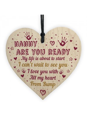 Nanny To Be Gifts Wooden Heart Nanny To Be Baby Shower Gifts
