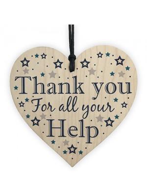 Thank You Gift For Friend Teacher Mentor Colleague Wood Heart
