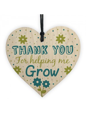 Teacher Teaching Assistant Thank You Gift Wooden Heart Gift