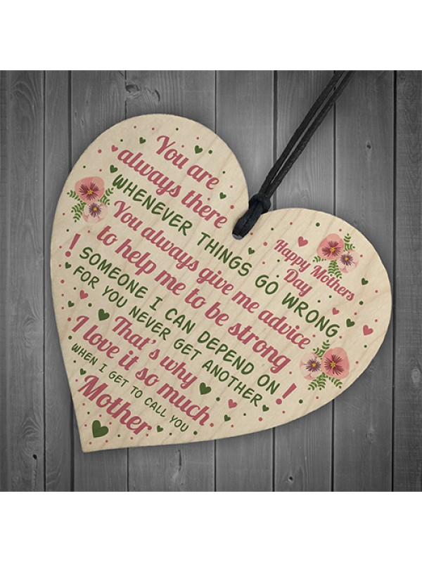 Mothers Day Plaque Mothers Day Gift Wood Heart Gift For Her