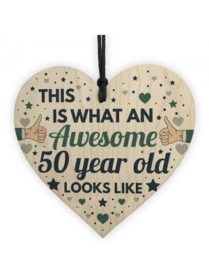 AWESOME 50 Year Old Funny 50th Birthday Gift 50th Birthday Card