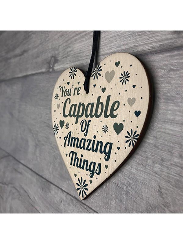 Motivational Friendship Gifts Wooden Heart Birthday Gift