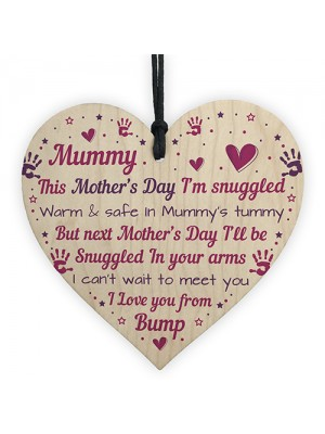 Mummy To Be Gifts Mothers Day Gift From Bump Wood Heart