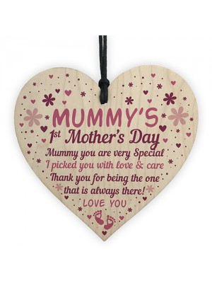 Mummy To Be Mothers Day Gifts Wood Heart First Mothers Day