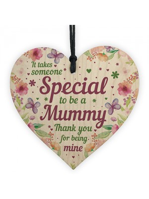 Mummy Birthday Mothers Day Gifts Wooden Heart Gift For Mum