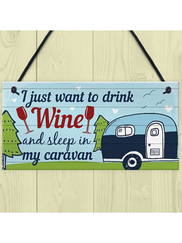 Funny Novelty Caravan Plaque Home Decor Garden Sign Gifts