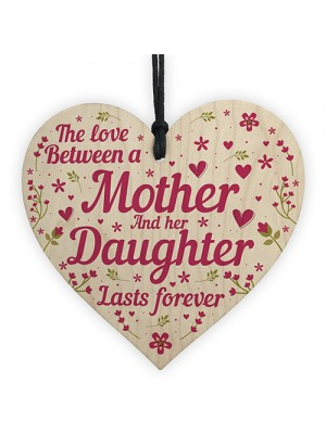 Mum Gifts Mothers Day Birthday Gifts From Daughter Wood Heart