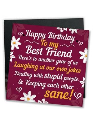 HAPPY BIRTHDAY Card Best Friend Birthday Gift Friendship Plaque