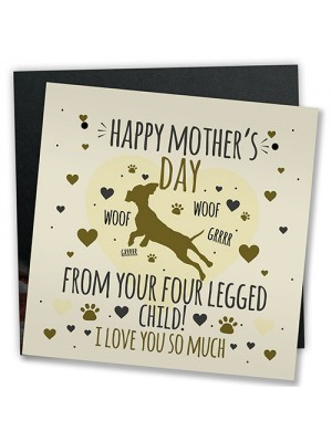 Funny Mother's Day Card Joke Mum Gift Humour Card From Dog