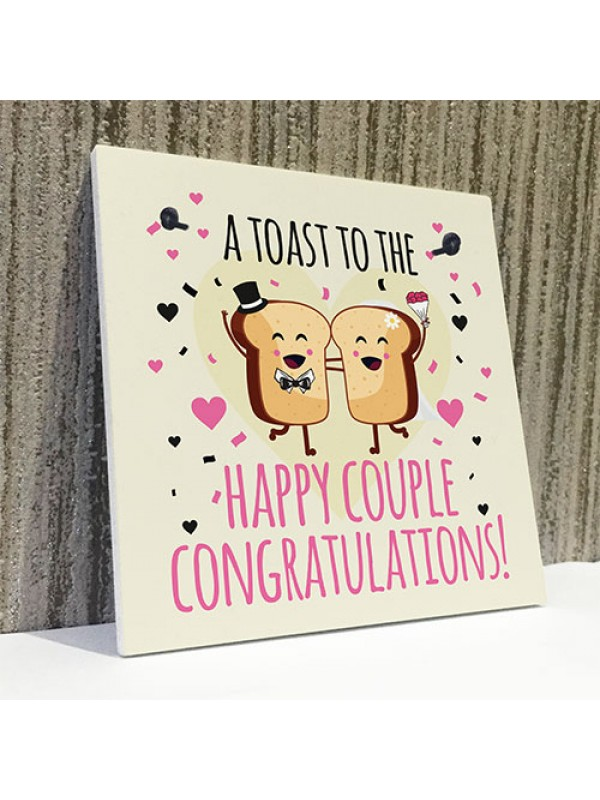 Handmade Wedding Card Bride Groom Congratulations Newlyweds