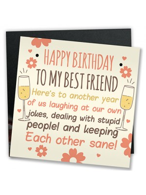 Funny Best Friend Birthday Card Friendship Gifts Sign