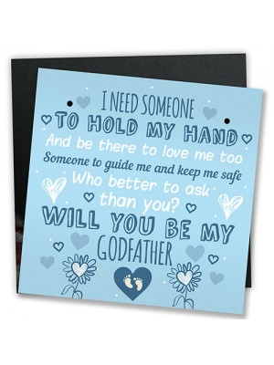 Will You Be My Godfather Request Card Godparent Thank You