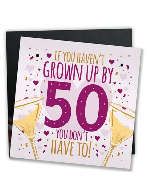 50th Birthday Card 50th Gift For Women Men 50 For Dad Mum Sister