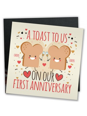 Funny Joke Anniversary Card For Him Her First Anniversary Gifts