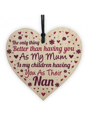 Mother's Day Gift For Mum Nan Nanny Gift From Granddaughter Sign
